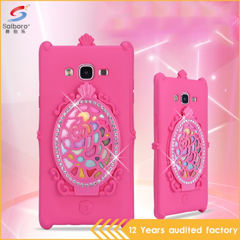 Factory direct supply super luxury diamond case for samsung j7