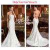 Wedding Guests Dresses Strapless Deep Low Back Whole Heavy Beaded Diamond /Pave Diamond Beads Lace Country Wedding Dresses