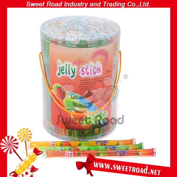 Colored Crystal Sugar Tutti Frutti Flavour Jelly Stick