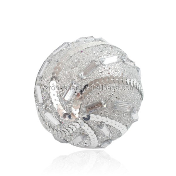 beautiful pearls paved silvery christmas decoration balls