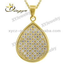 Gold plated pendants jewelry zircon pendant XYXP100010