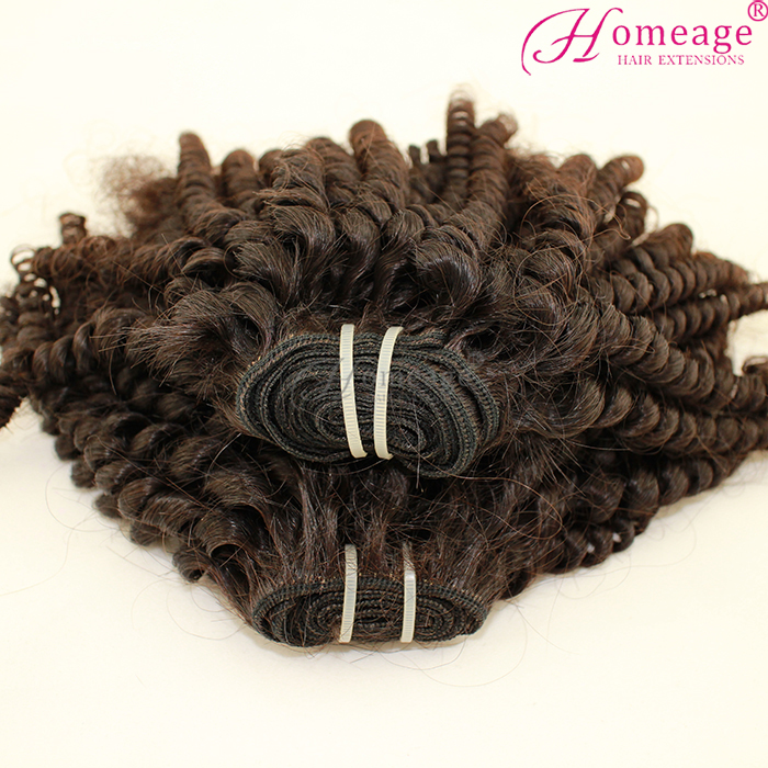 Homeage cheap unprocessed virgin malaysian telephone hair malaysian tiny curl