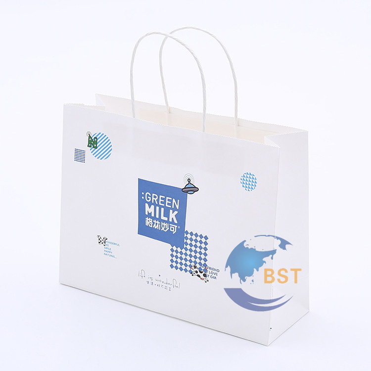 Cheap classical embossing logo craft paper bags