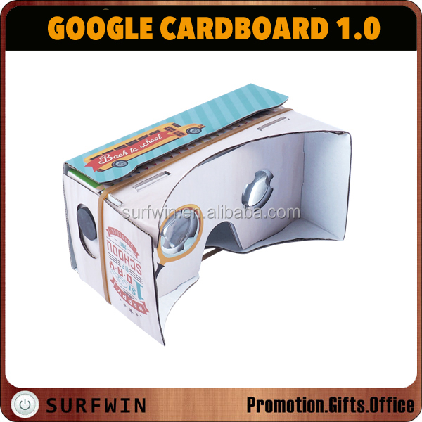 DIY 3D cardboard VR glasses ,DIY virtual reality google cardboard vr V1.0 for smartphone