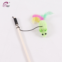 Cheap Funny Play Cat Toys Pet Accessory Cat Teaser Feather Playing Wand For