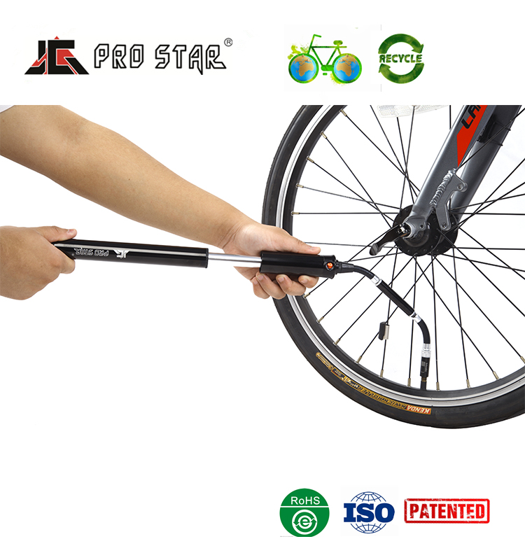 High quality Mini bike tyre pressure pump with Scale Hose mini pump bike