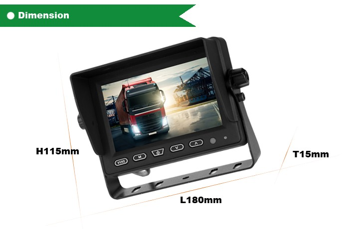 5 inch security monitor all-round bus car rearview camera system