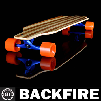 Backfire Flexible skateboard longboard Bamboo fiberglass drop through cruiser deck