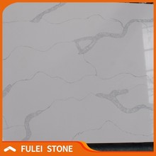 Top quality china faux calacatta statuario marble quartz stone sheet
