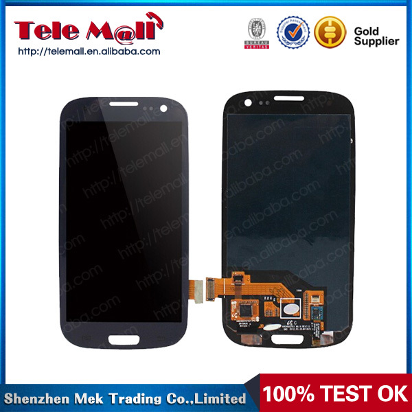 Black/White Color LCD For Samsung Galaxy S3 GT-i9300 I9300 Display + Touch Screen +Frame