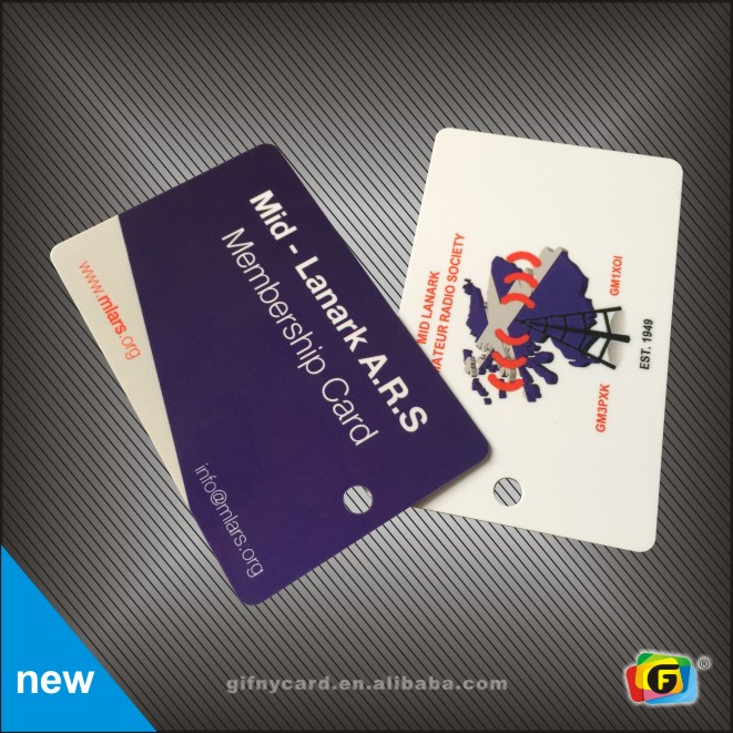 Full Color Printing Credit Card Size PVC Plastic Cards