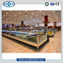 Low price CE Certification DID series sliding glass door retail custom made freezer