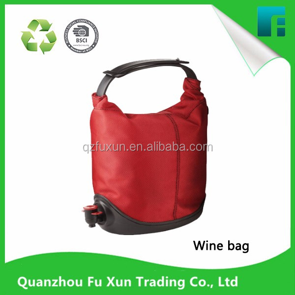high quality Red wine dispenser bag in box with butterfly spout tap nice packaging bags