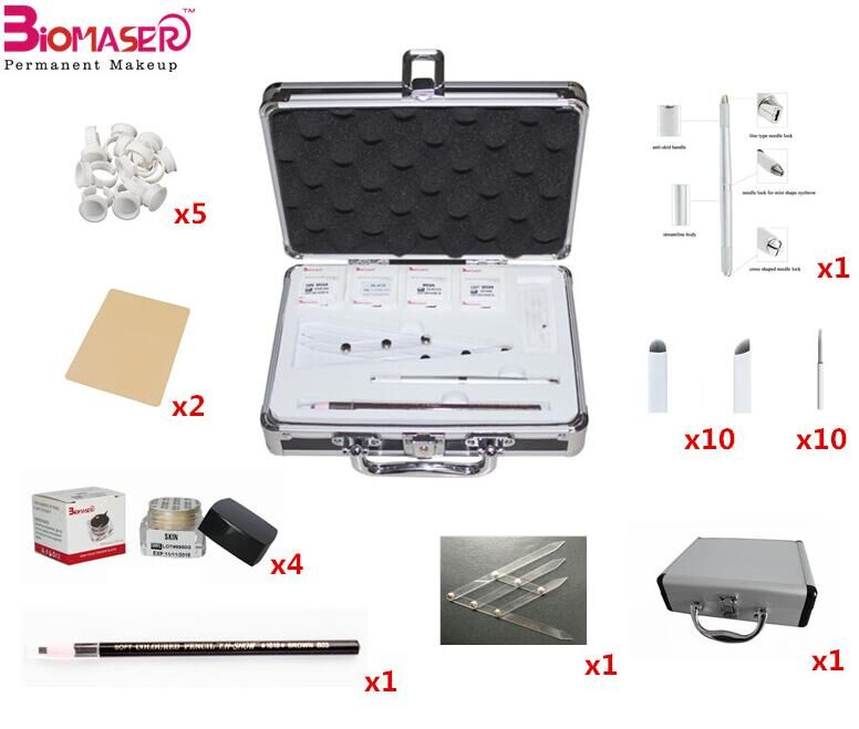 Hot selling Permanent Makeup Microblading Eyebrow Stencil Kit