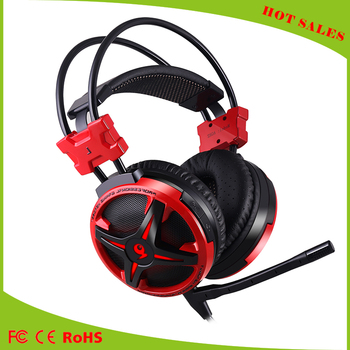 2016 Hot selling pc gaming headphones headset 7.1 sound track for Vibration effect