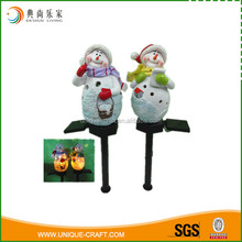 Wholesale Christmas Decoration Polyresin Snowmen With Solar Light