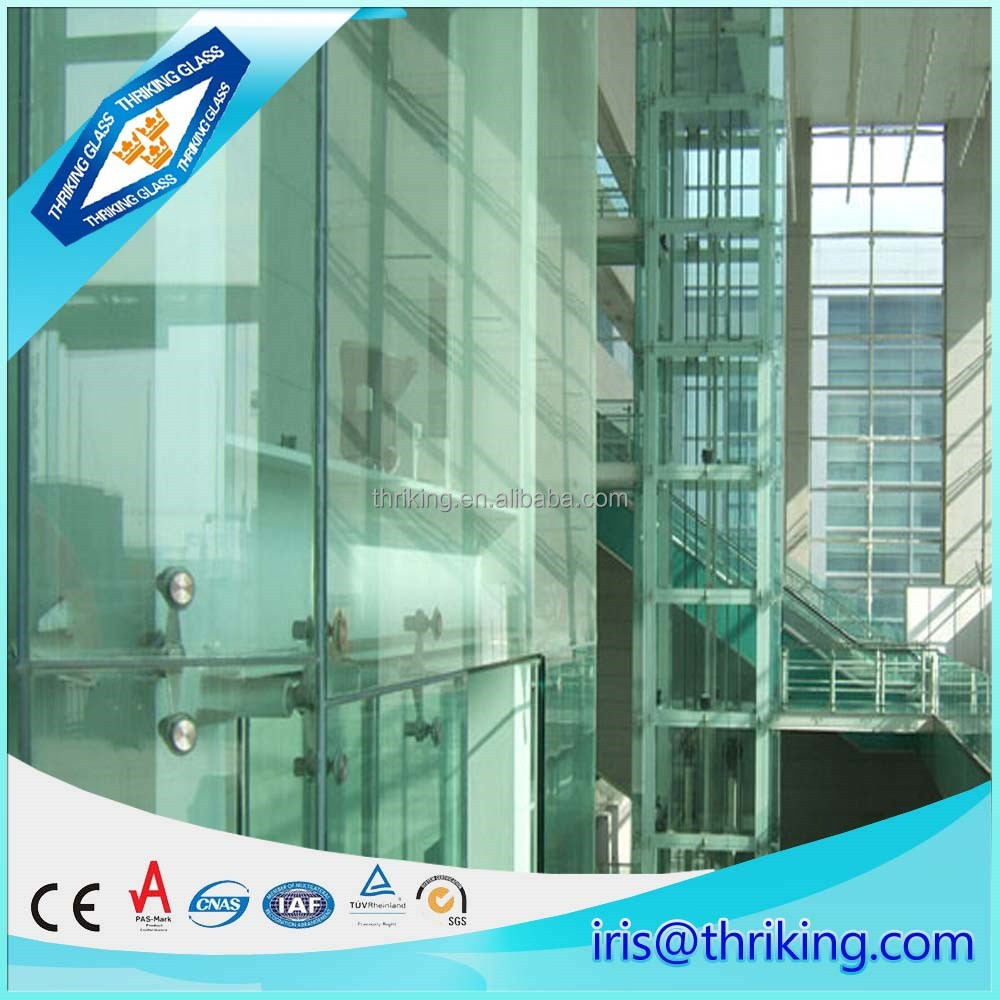 10mm ribbed glass sheets for building, office door with glass window
