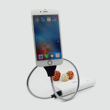 Flexible Rotatable Holder for ipad Tablet Holder Lazy Mobile Phone Holder Stand with charging