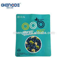 gravure printing PET/PA/PE white material New Zealand berry packaging zipper bags with clear bottom