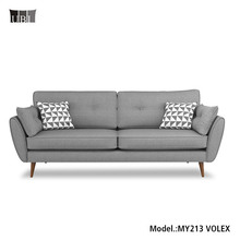 Midcentry modern vintage design fabric 3 seater sofa ,fabric sofa sets designs for living room furniture