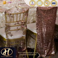 CHAMPAGNE SEQUIN CHAIR CAP Cover FOR