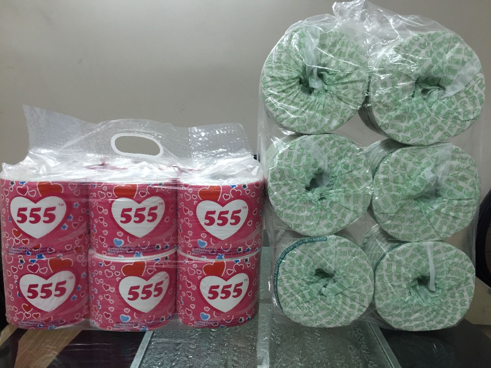 wholesale customized Economic cheap Recycled Toilet Tissue Paper wood pulp soft