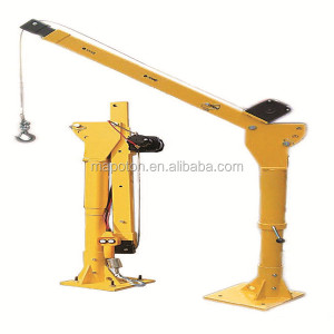 1000lbs Davit Crane 12V DC Power Lift Jib Crane Construction Davit Crane Electric Cable Hoist