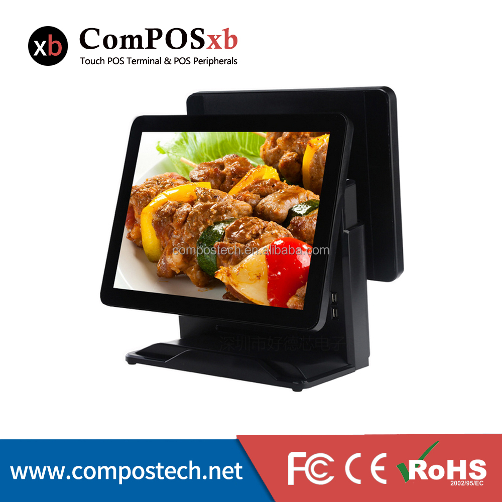new arrival hot true flat screen fanless pos system epos terminal dualscreen <strong>point</strong> of sale