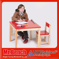New Style study table and chair set, child furniture with low cost, nursery school furniture