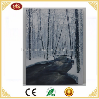 winter scene lighted canvas art optic fiber wall art light up canvas