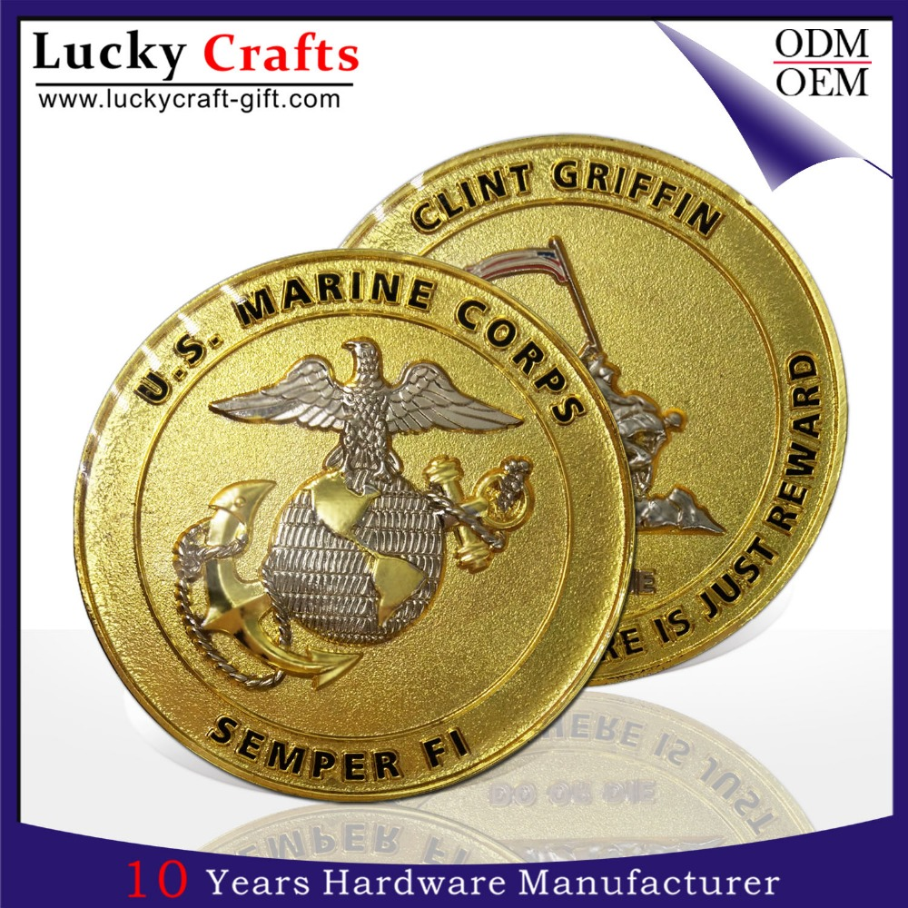 China wholesale Metal crafts old gold challenge coin at factory price