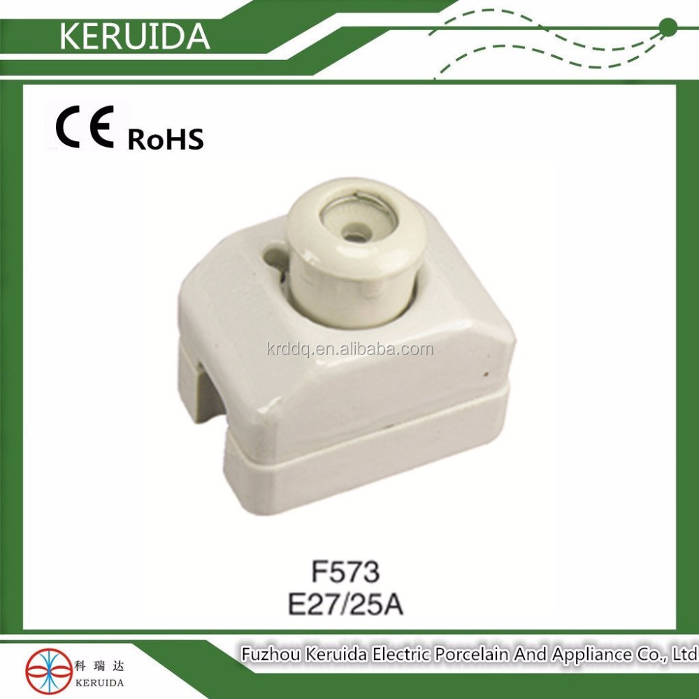 ceramic tube automatic electric fuses E27 A25/Porcelain plug-in fuse units