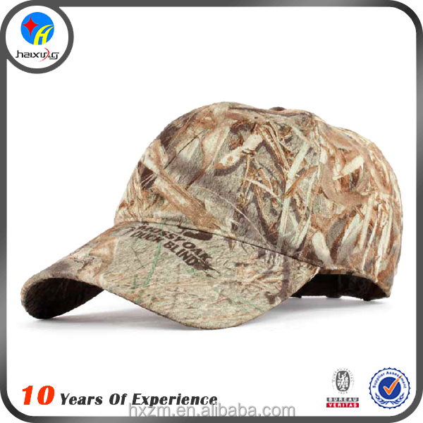 Military Woodland Camo Army Baseball Cap with Embroidered Patch