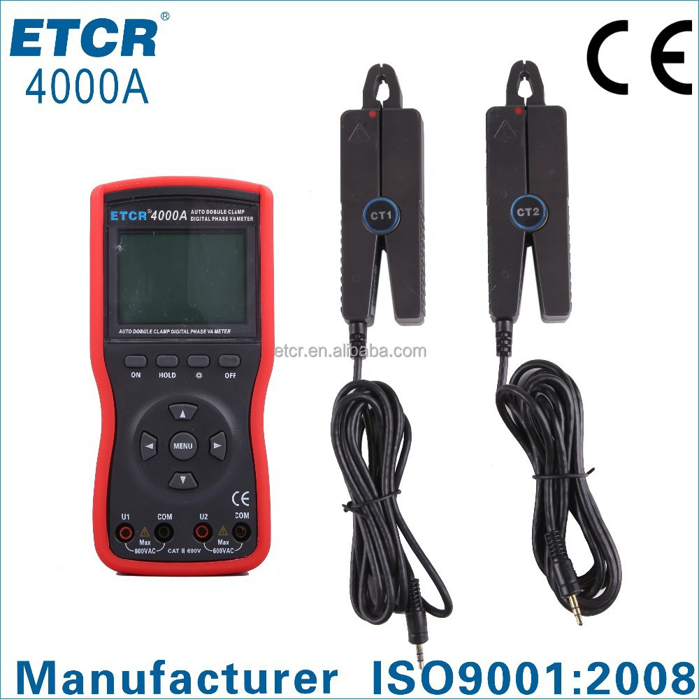 ISO CE ETCR4000A Intelligent Phase Volt-ampere Meter voltage and current meter