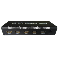 4x1 hdmi switch with audio With spdif,coax,3.5mm audio output