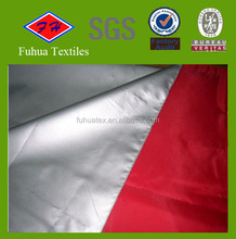 190T Silver Coated Polyester Pongee Fabric with UV Protection