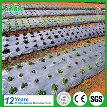 OEM size color black silver mulching film price white on black plastic agricultural polyethylene mulch