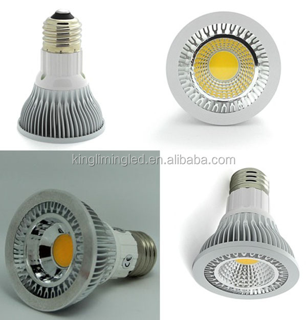 led bulb 5w dimmable par20, par30, par38 with 3 years warranty