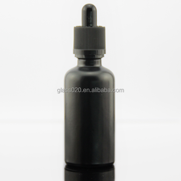 matte black glass eliquid bottle with dropper