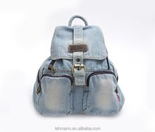The new leisure fashion versatile denim school travel backpack vintage bags for girls