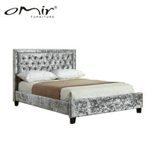 2018 New Arrival cina bedroom furniture set leather headboard pictures of double bed SS8018