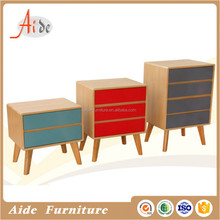 Colorful modern design mdf e1 chest of drawer set
