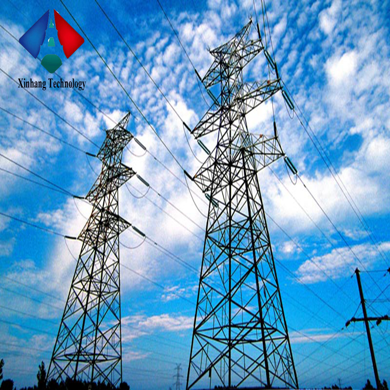 220KV Hot dipped galvanized electrical steel transmission line poles