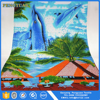 100% cotton woven printed custom china wholesaler beach towel