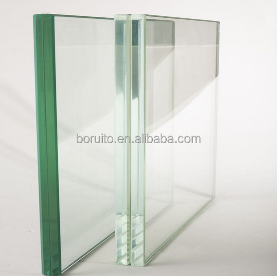 Safety glass 4.38mm 5.38mm 6.38mm 7.38mm laminated glass price with CCC/ISO9001/CE
