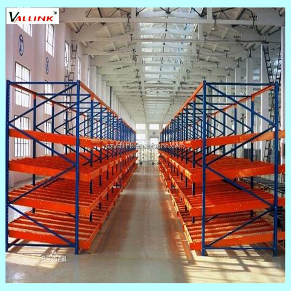 Industry adjustable steel roller racking systems, carton flow rack
