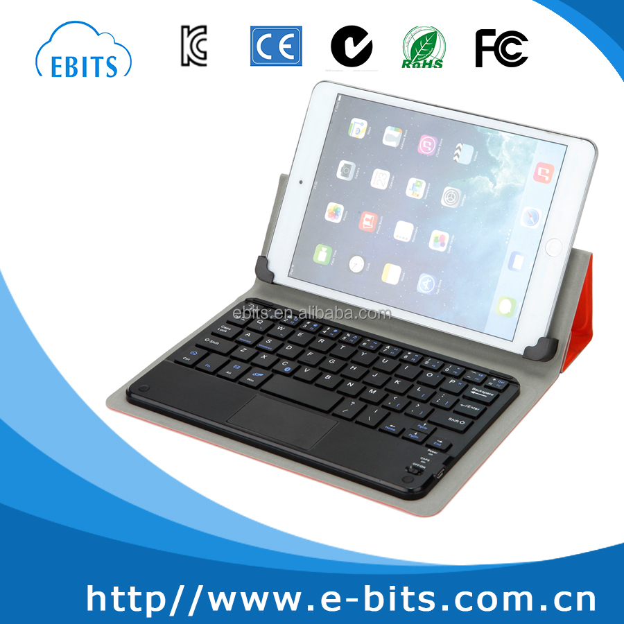colored tablet cover with keyboard with two buttons
