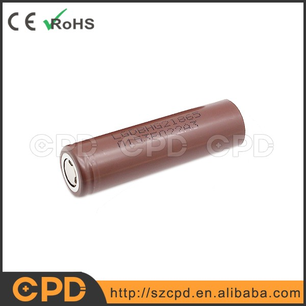 100% original and authentic e-cig LG hg2 18650 li-ion battery 3000mah 20A rechargeable batteries HG2 3.7V battery cell