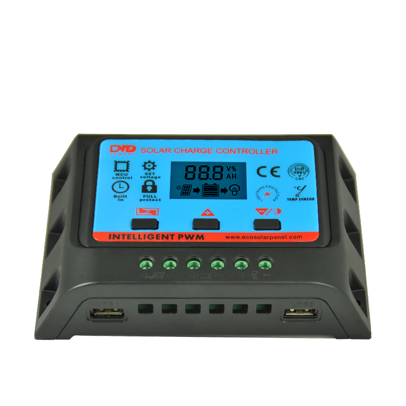 Factory Selling Directly 12V 24V solar charger controller 20a solar panel charge controller adjustable return voltage