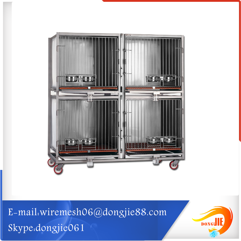 low cost chrome steel dog cage
